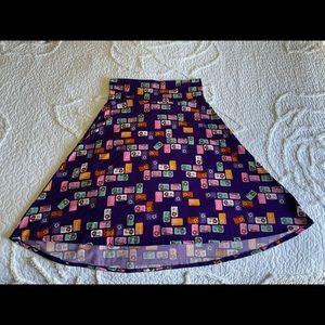 LuLaRoe Cassette Tape Skirt